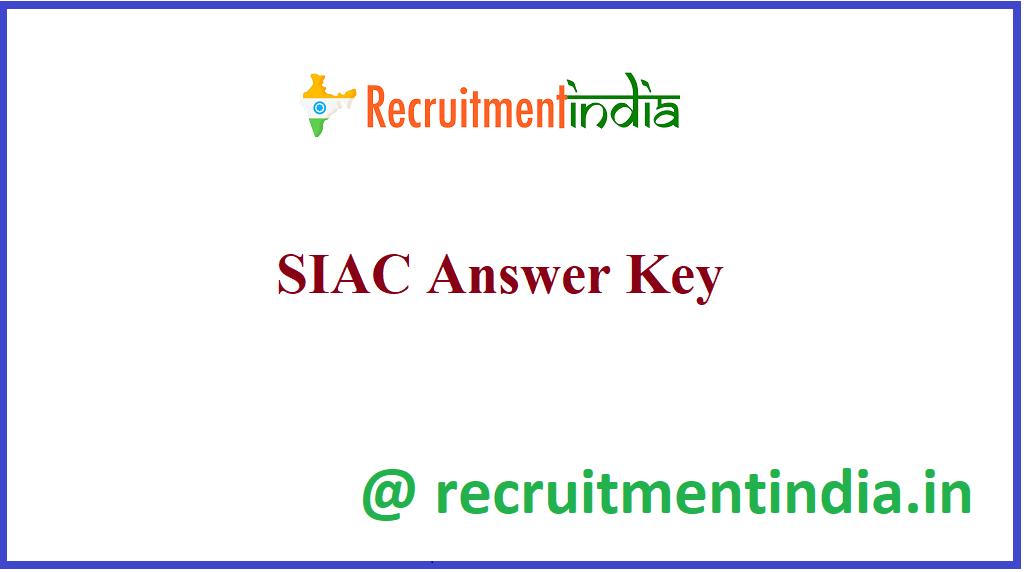 SIAC Answer Key
