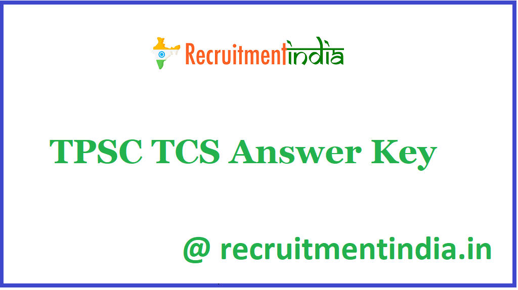 TPSC TCS Answer Key