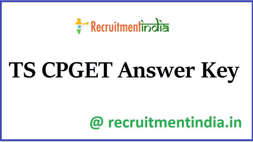 TS CPGET Answer Key