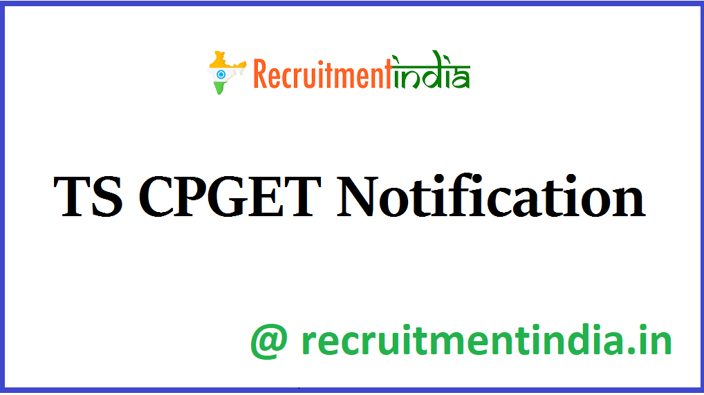 TS CPGET Notification