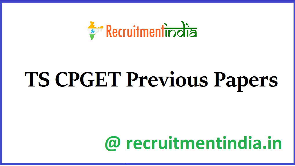 TS CPGET Previous Papers