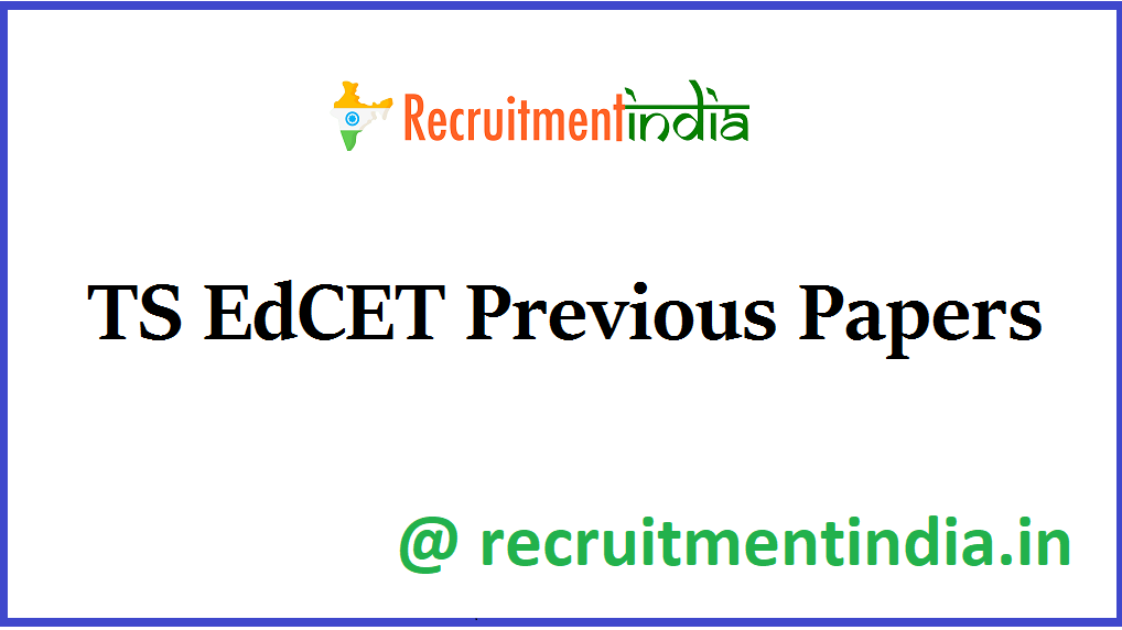 TS EdCET Previous Papers