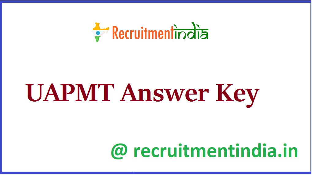 UAPMT Answer Key