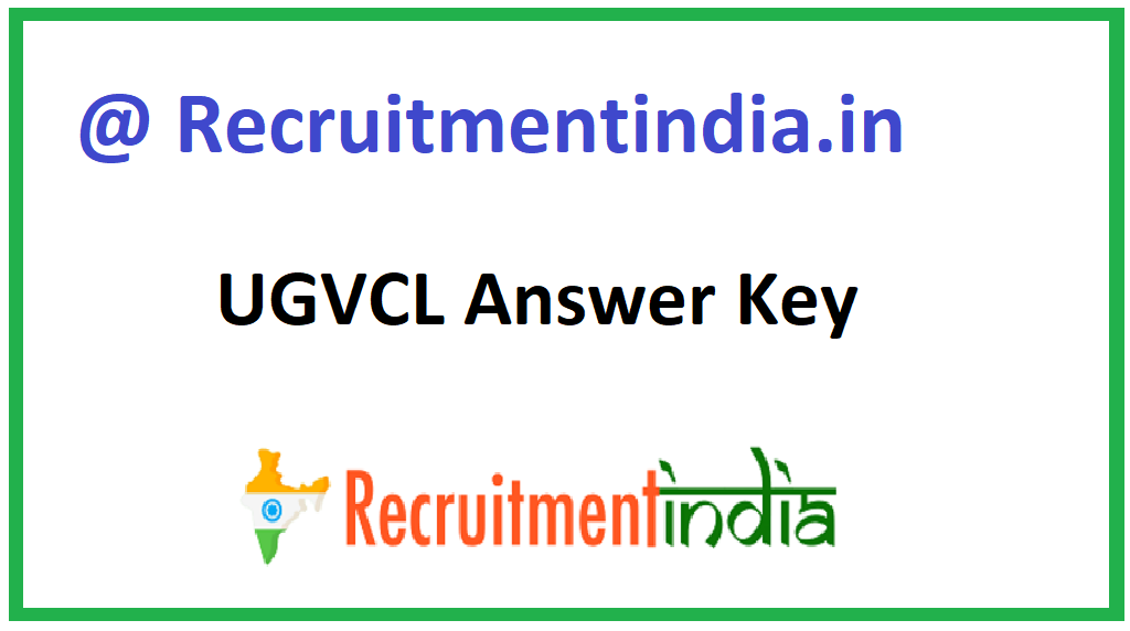 UGVCL Answer Key