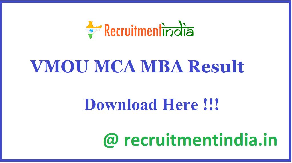 VMOU MCA MBA Result