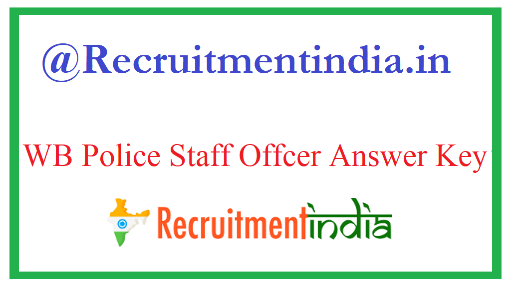 WB Police Officer Answer Key