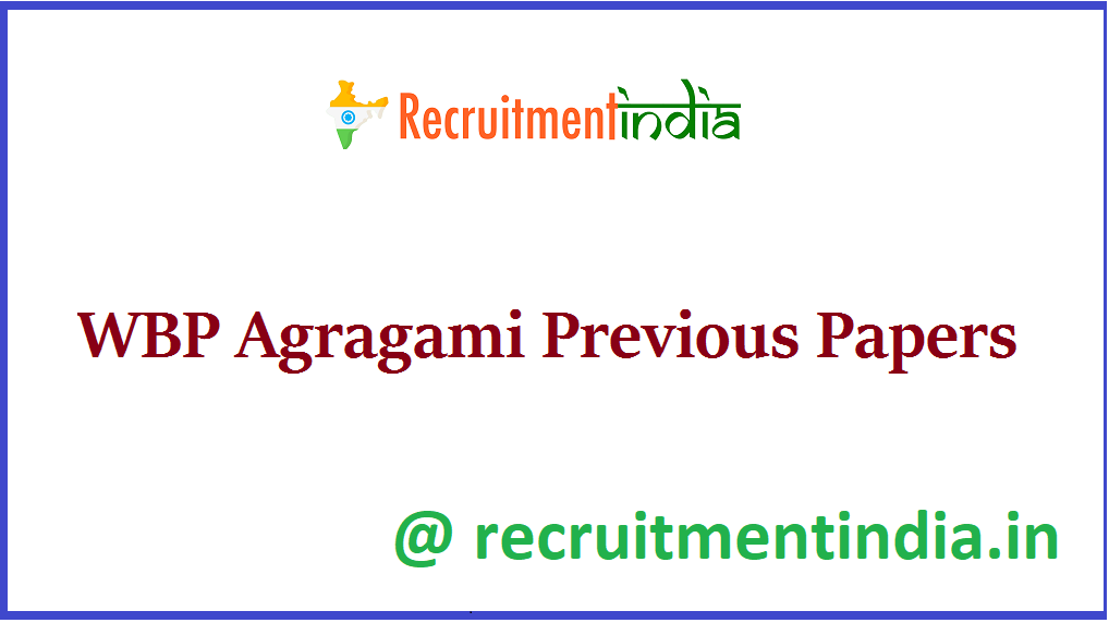 WBP Agragami Previous Papers