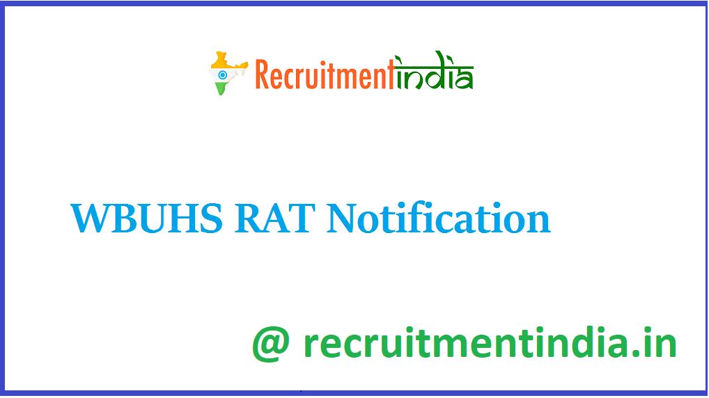 WBUHS RAT Notification