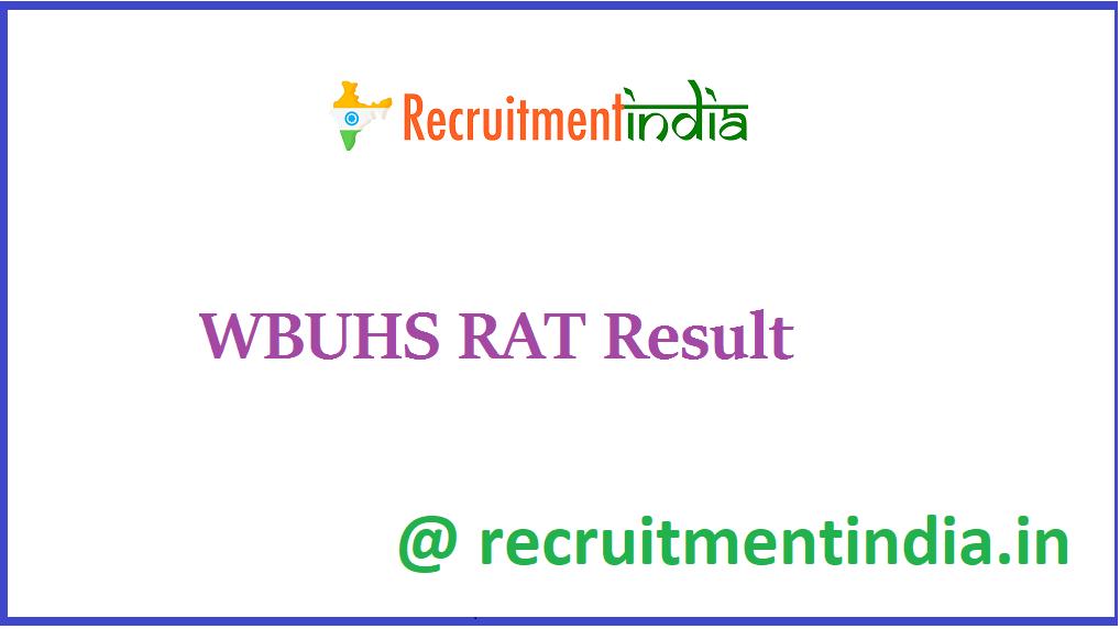 WBUHS RAT Result