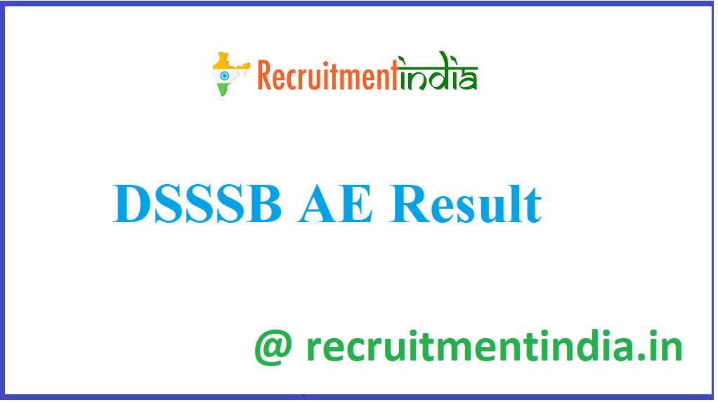 DSSSB AE Result