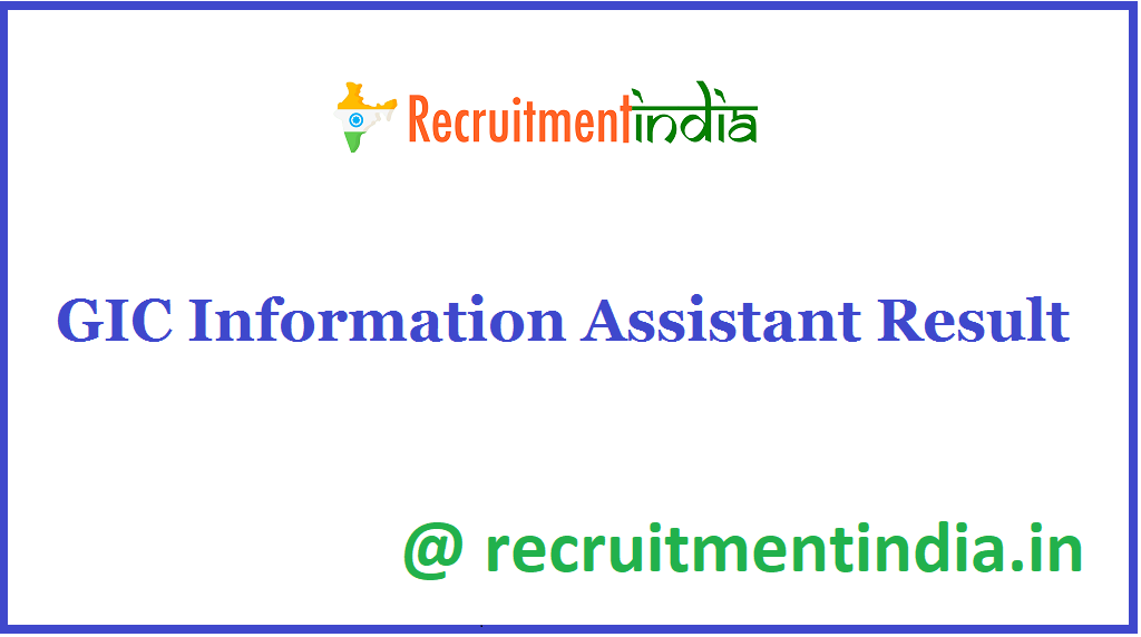 GIC Information Assistant Result