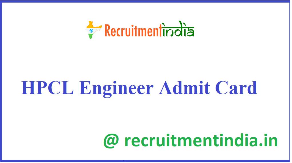 HPCL Engineer Admit Card