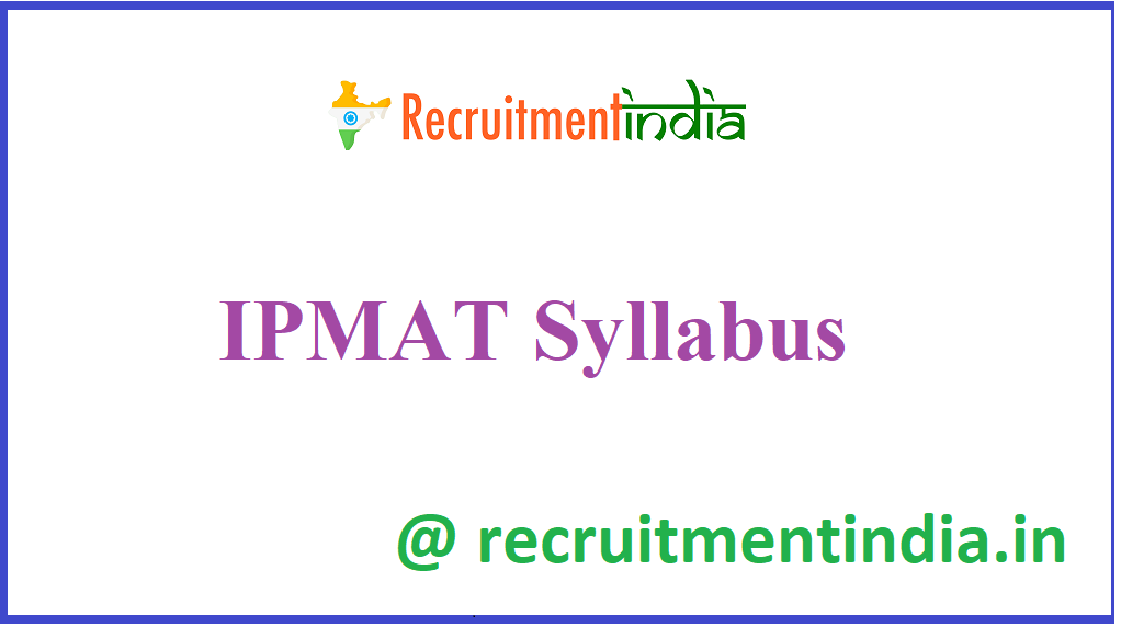 IPMAT Syllabus