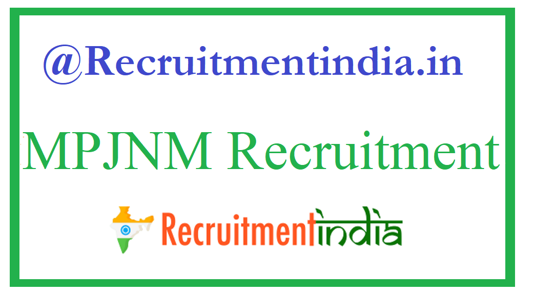 MPJNM Recruitment