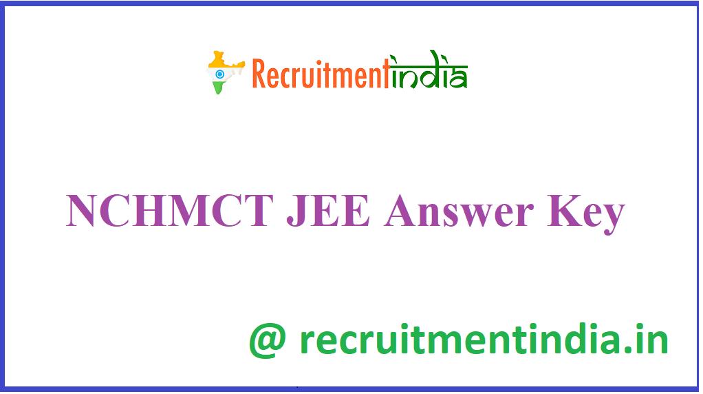 NCHMCT JEE Answer Key