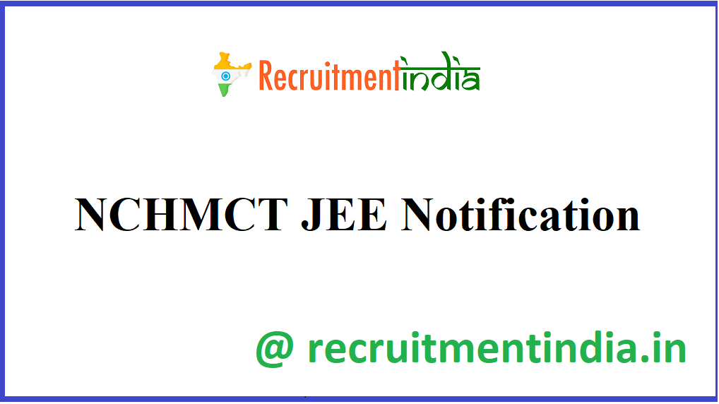 NCHMCT JEE Notification