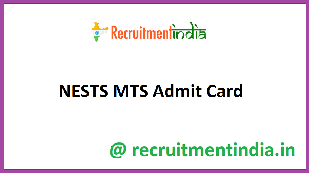 NESTS MTS Admit Card
