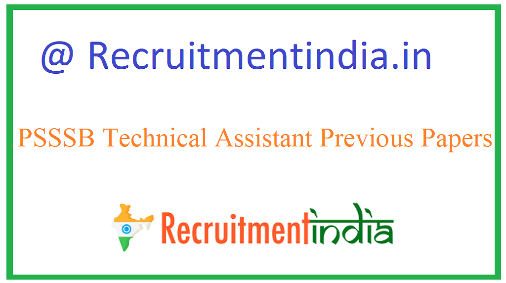PSSSB Technical Assistant Previous Papers