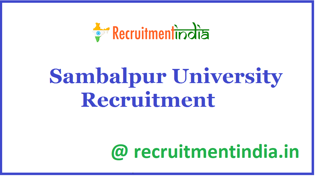 Sambalpur University Recruitment