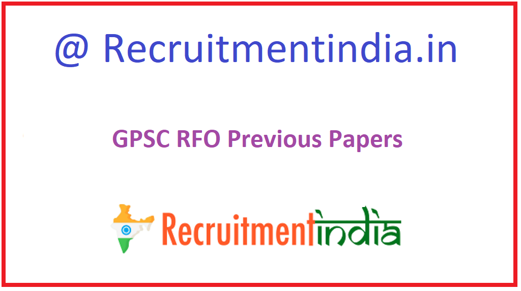 GPSC RFO Previous Papers