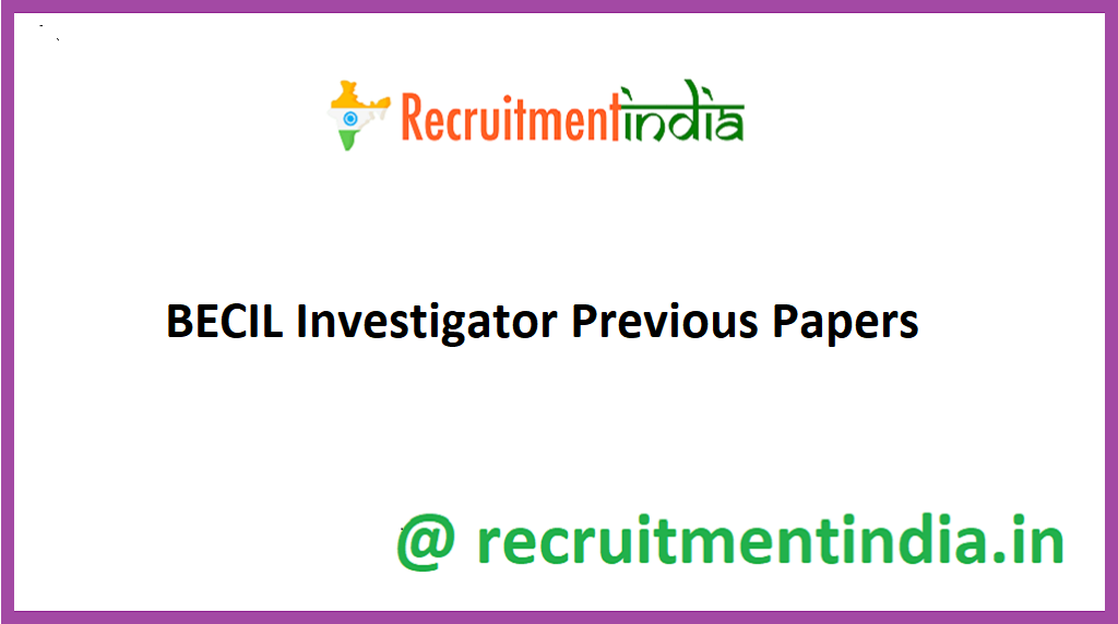 BECIL Investigator Previous Papers
