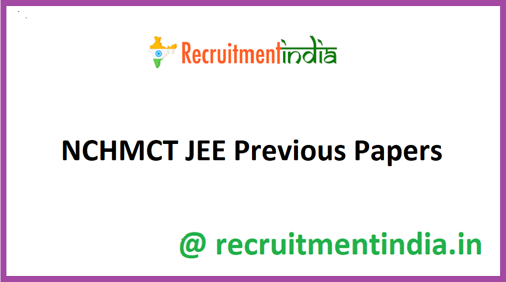 NCHMCT JEE Previous Papers