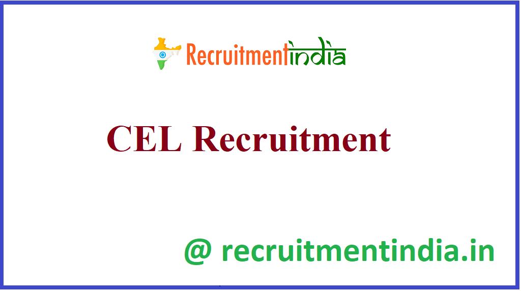 CEL Recruitment