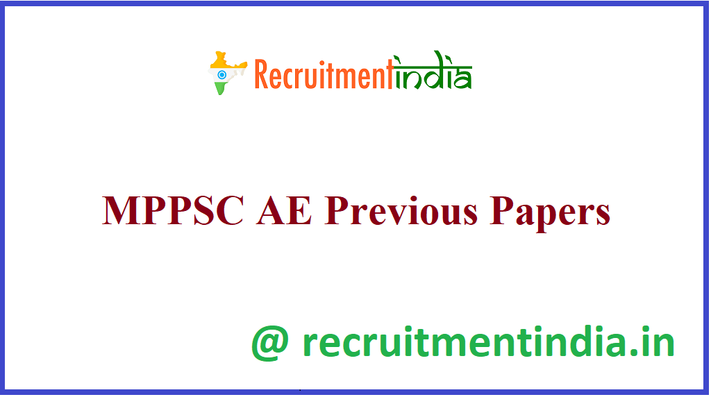 MPPSC AE Previous Papers