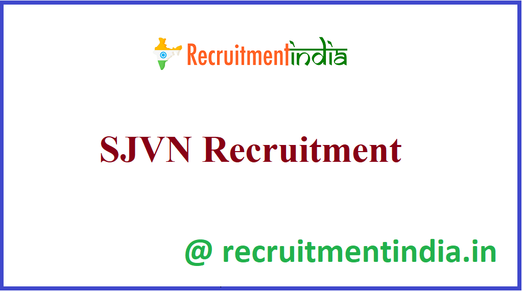 SJVN Recruitment