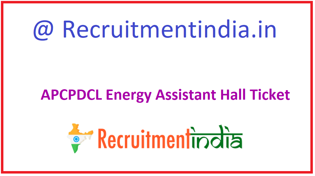 APCPDCL Energy Assistant Hall Ticket