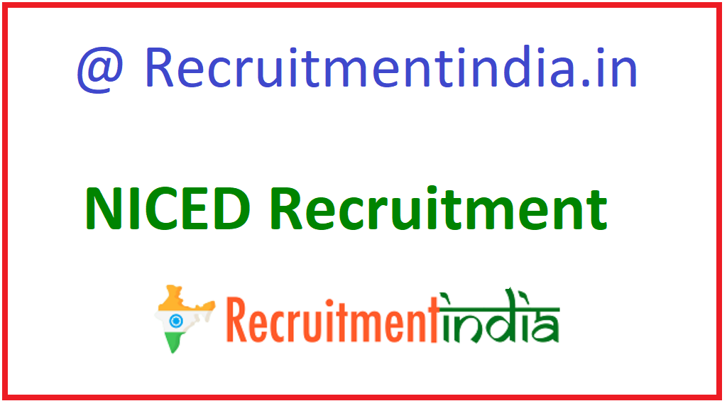 NICED Recruitment