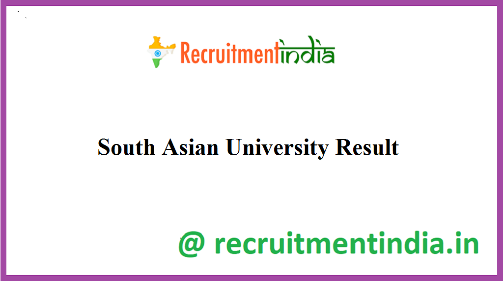South Asian University Result