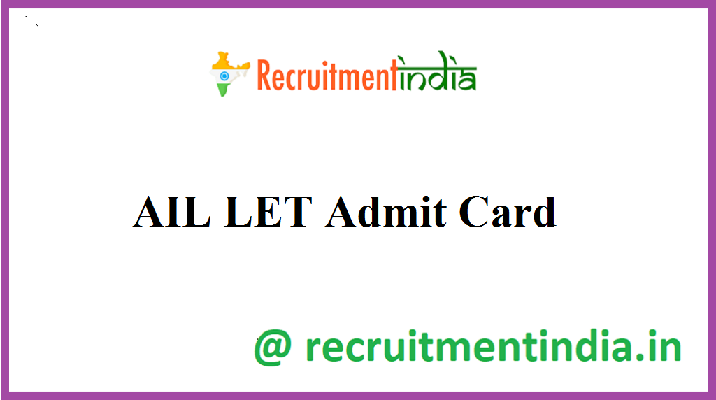 AIL LET Admit Card