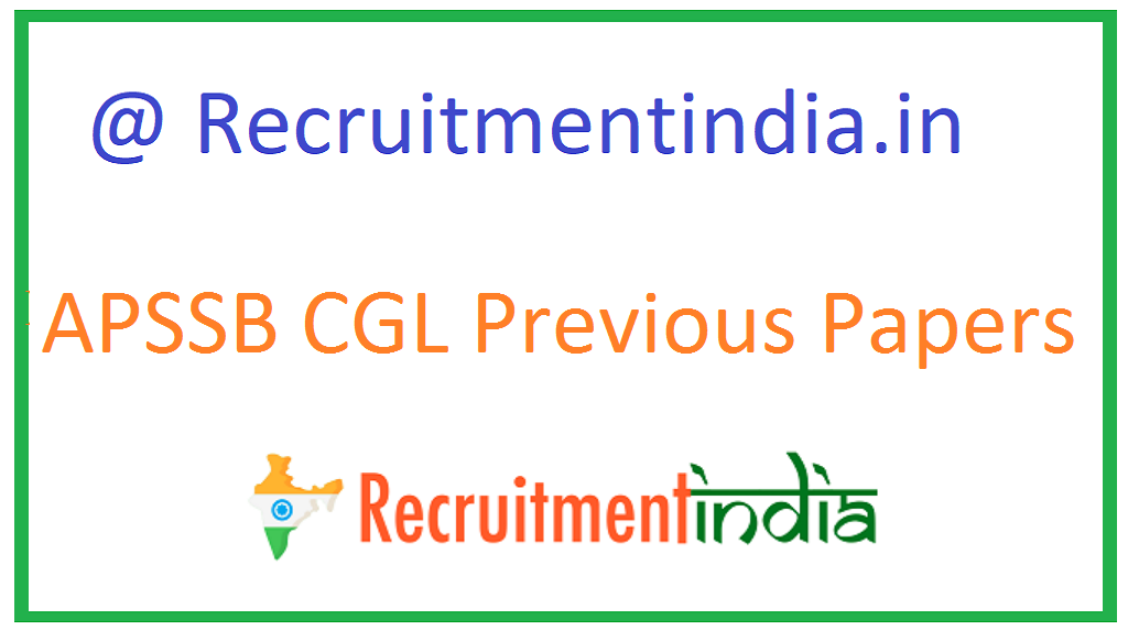 APSSB CGL Previous Papers