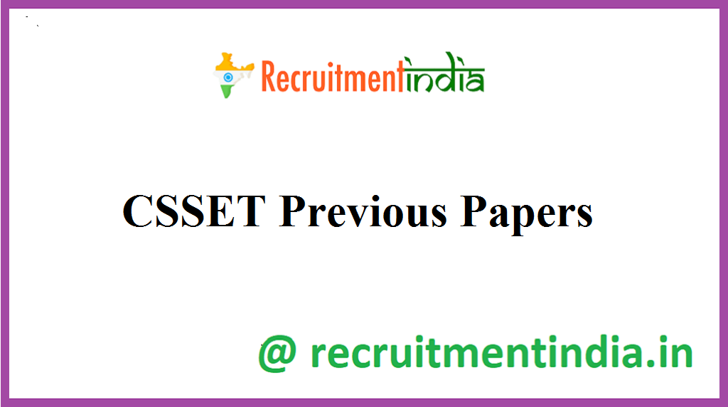 CSSET Previous Papers