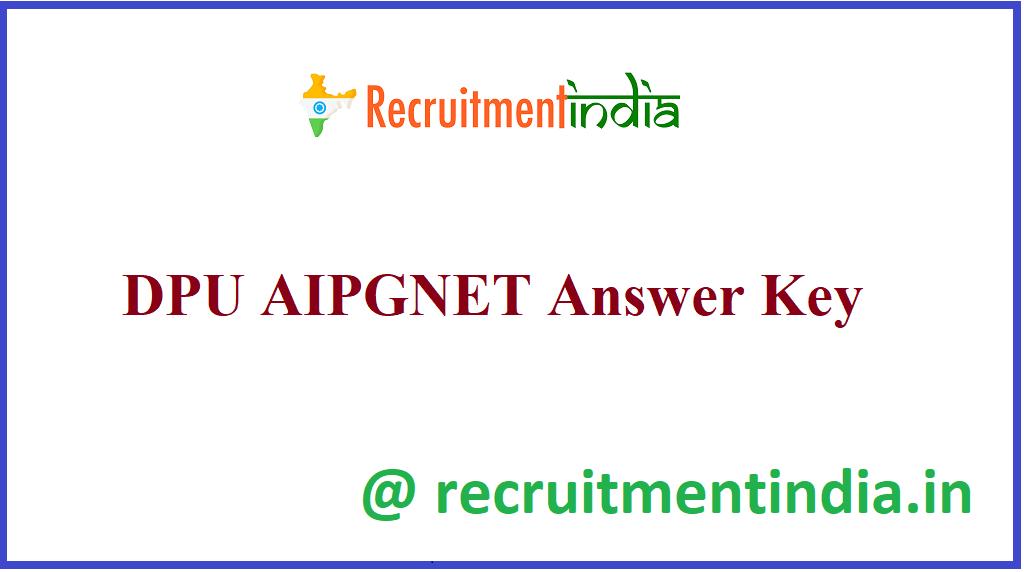DPU AIPGNET Answer Key