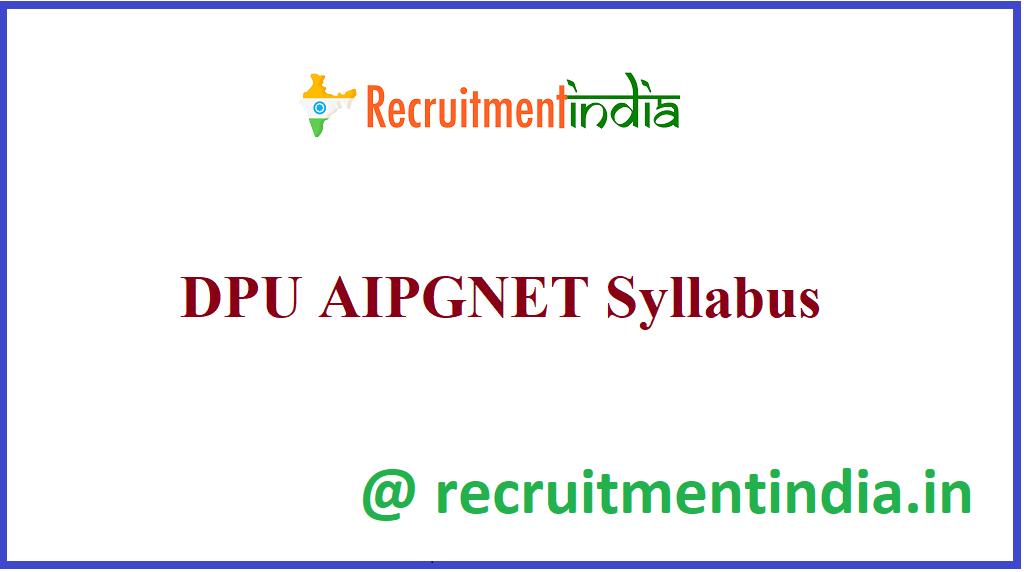 DPU AIPGNET Syllabus