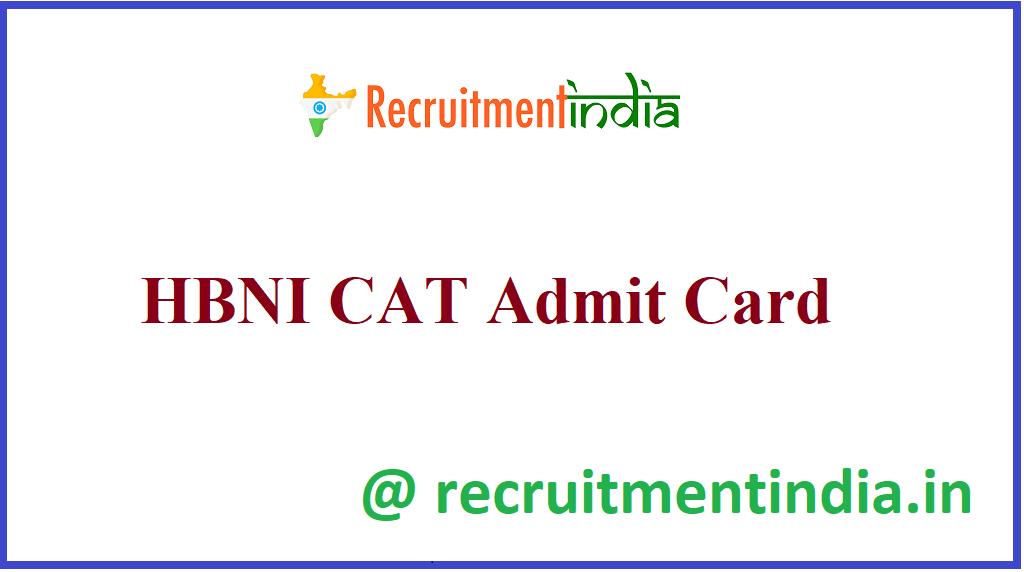 HBNI CAT Admit Card