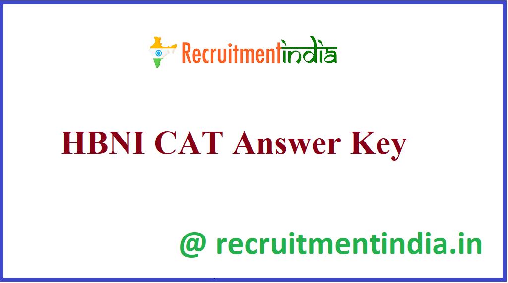 HBNI CAT Answer Key