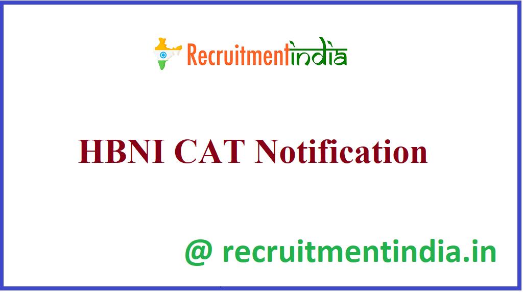 HBNI CAT Notification