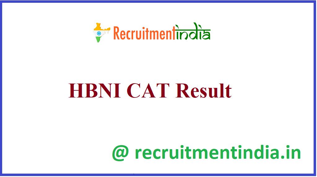 HBNI CAT Result