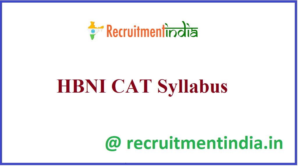 HBNI CAT Syllabus