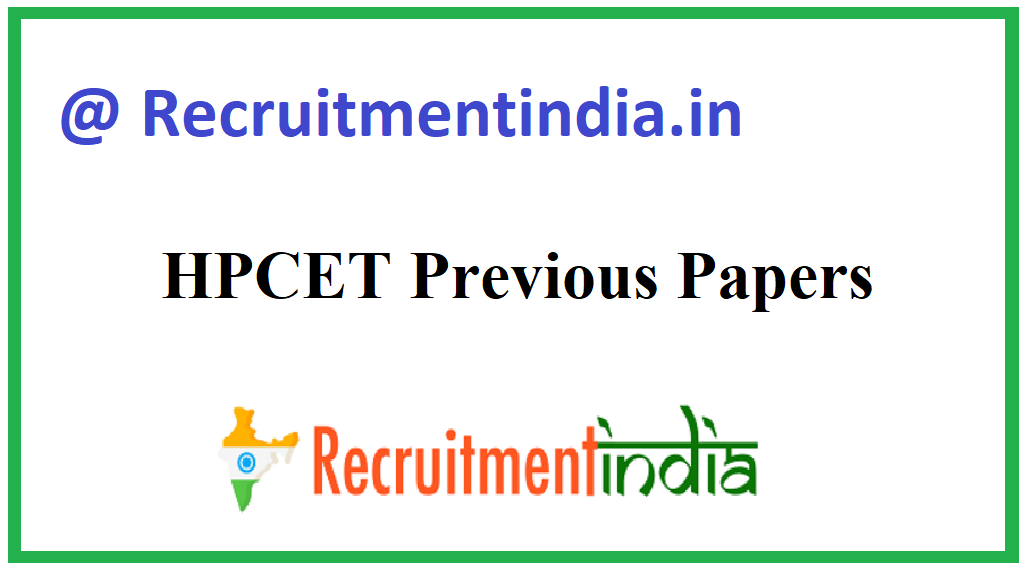 HPCET Previous Papers