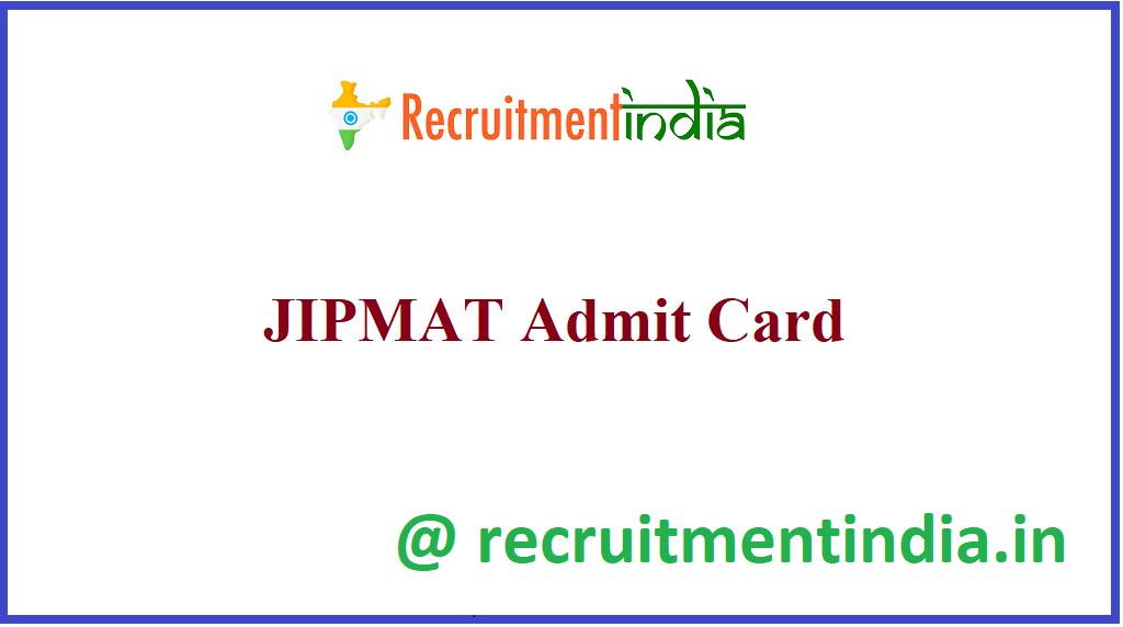 JIPMAT Admit Card