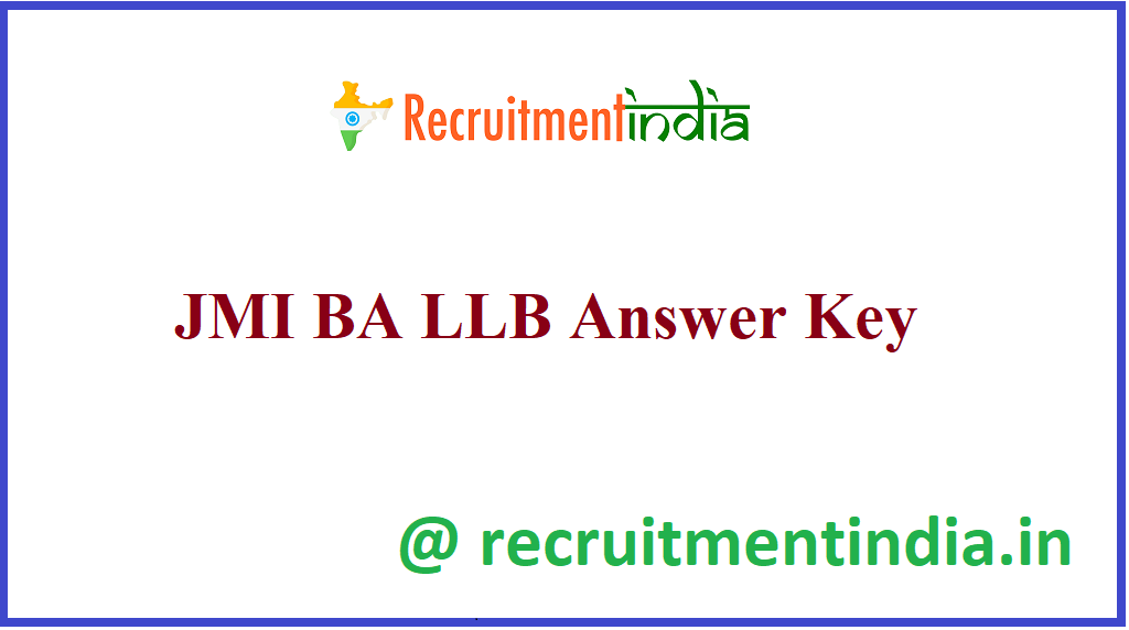 JMI BA LLB Answer Key