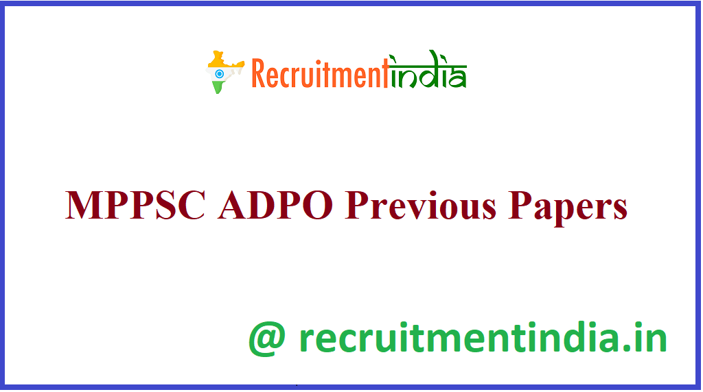MPPSC ADPO Previous Papers
