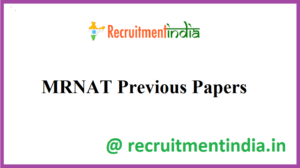 MRNAT Previous Papers