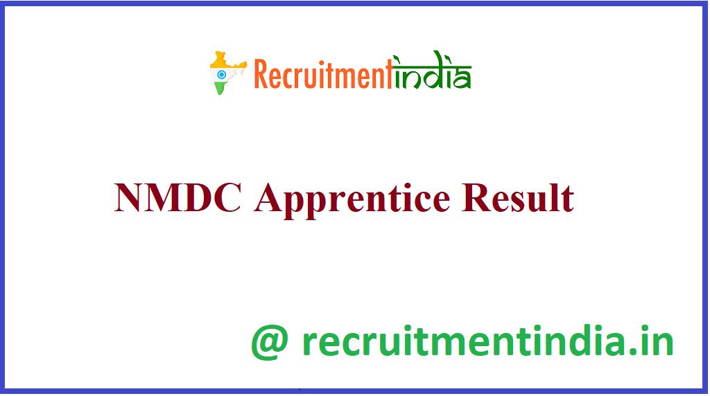 NMDC Apprentice Result