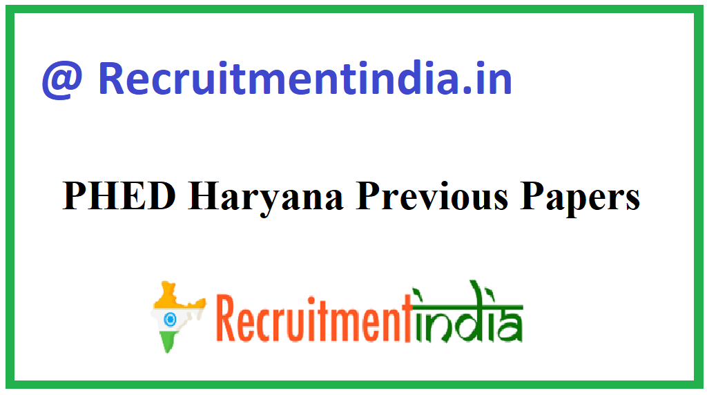 PHED Haryana Previous Papers