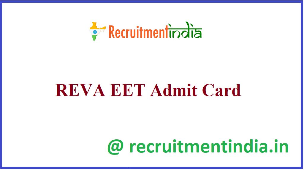 REVA EET Admit Card